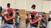 """A los gritos y risas: un joven con """"terror"""" a las agujas se vacunó y se volvió viral"""