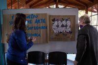 La escuela N° 329 obsequió un mural con el rostro de los nueve jóvenes que fallecieron en el Ventana