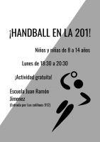 Reinicia la escuela gratuita de handball