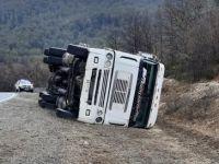Volcó un camión chileno cuando circulaba en dirección a Villa La Angostura