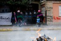 Manifestación mapuche frente al Juzgado Federal