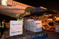 Llegó un cargamento con 500 mil dosis del segundo componente de Sputnik V