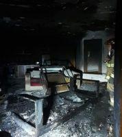Voraz incendio en una vivienda del km 22 de Bustillo