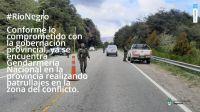 Aníbal Fernández publicó en su cuenta de Twitter imágenes de los controles en El Bolsón