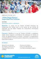 García Larraburu presentó Proyecto de Ley sobre Ciclismo Seguro