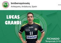 El barilochense Lucas Grandi jugará la mayor liga de handball de España