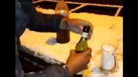 Video: Se preparó un Fernet con la nieve que cayó en Córdoba y se volvió viral