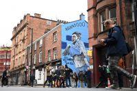 Borraron el mural dedicado al Kun Agüero en Manchester